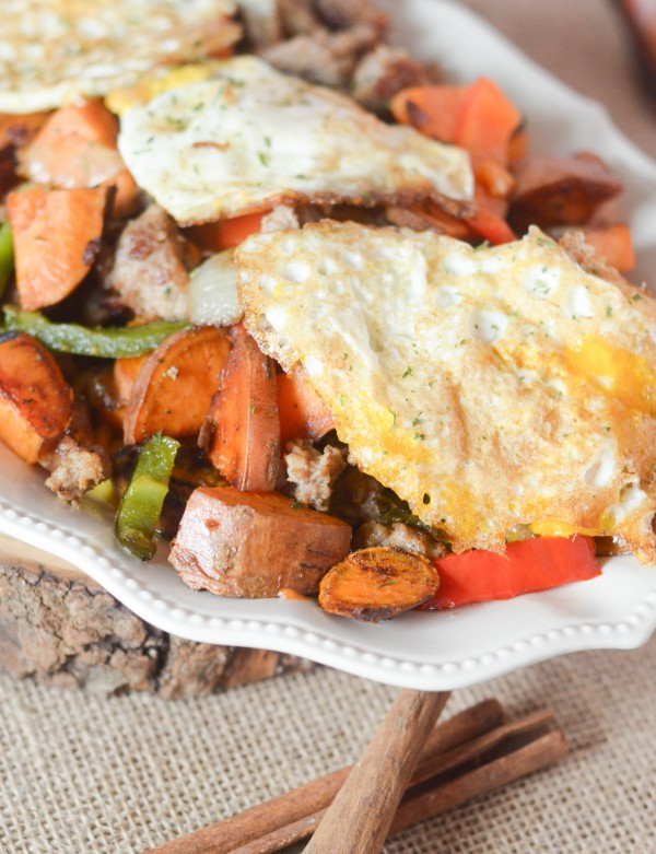 Sweet Potato Hash - A delicious, savory breakfast recipe with Great Day Farms Organic Eggs! #GreatDay {ad}