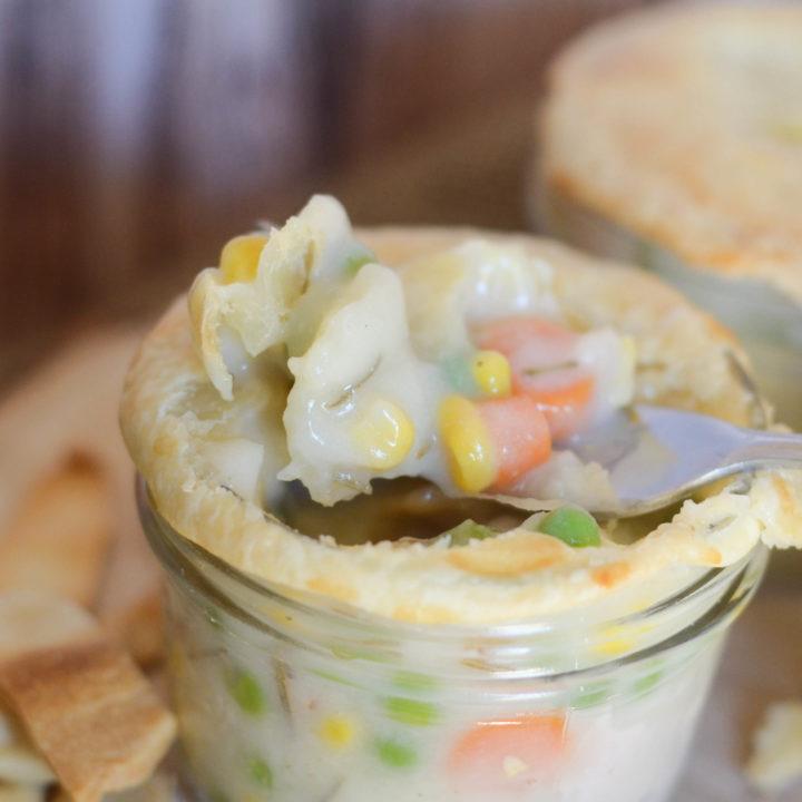 Turkey Pot Pies in a Jar