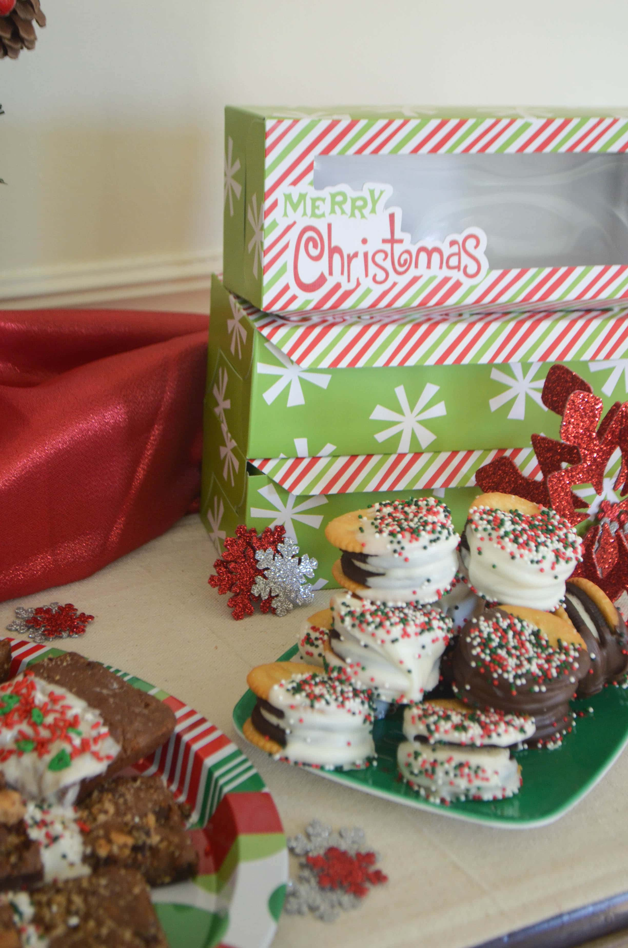Chocolate Dipped Treats Party & Chocolate Chip Cookie Brownies ...