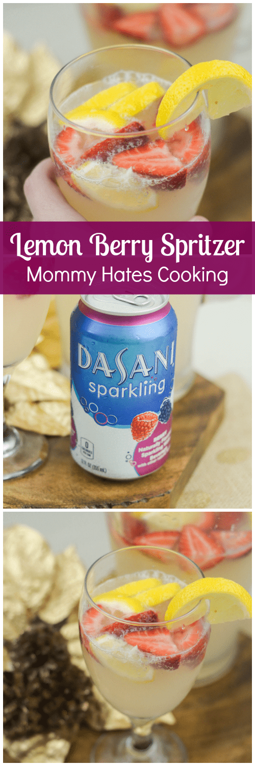 Lemon Berry Spritzer #SparklingHoliday #ad