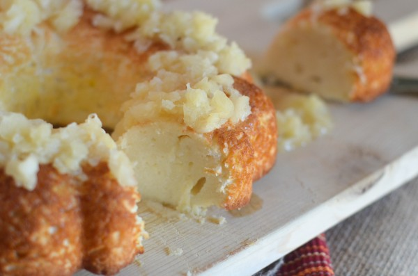 Gluten Free Angel Food Cake with Pineapple Topping
