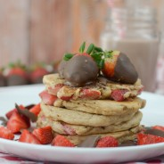 Chocolate Covered Strawberry Pancakes
