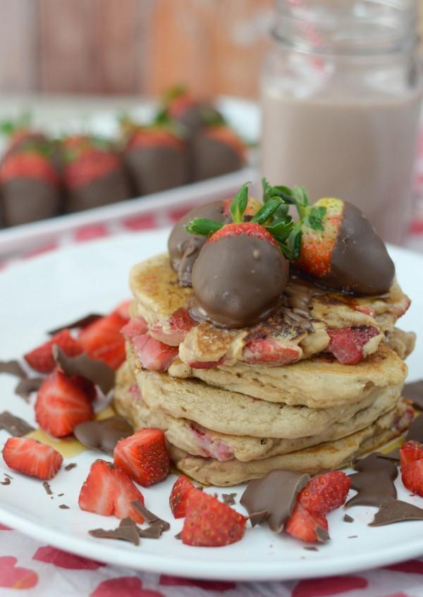 Chocolate Covered Strawberry Pancakes #TruMoo #ad