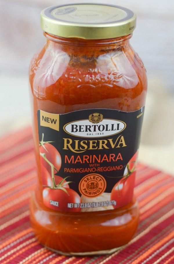 Lasagna Style Baked Spaghetti Squash #VivaBertolli #ad