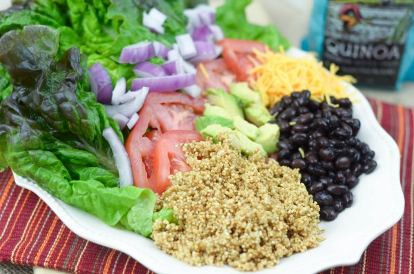 Quinoa Taco Salad #VillageHarvestInspired #Sponsored