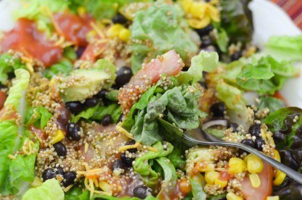 Quinoa Taco Salad #VillageHarvestInspired #Sponsored