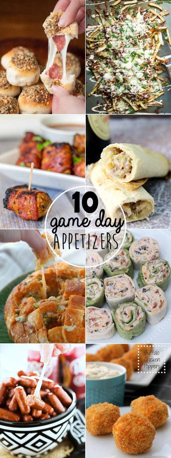 10 Game Day Appetizers - The best game day appetizers for your parties!