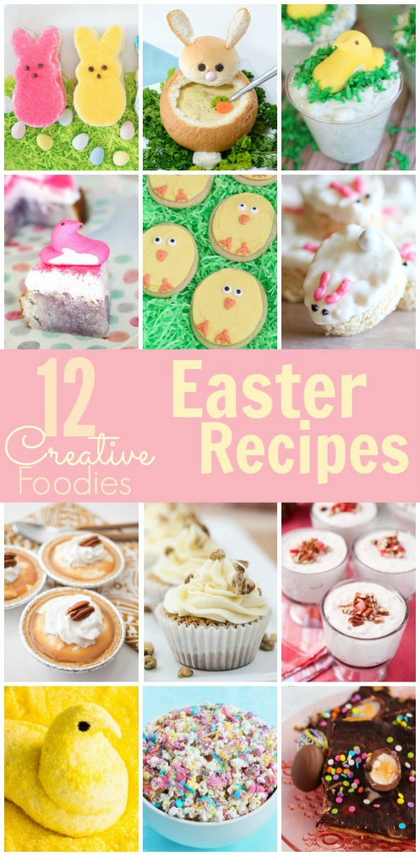 12 Easter Recipes from #CreativeFoodies