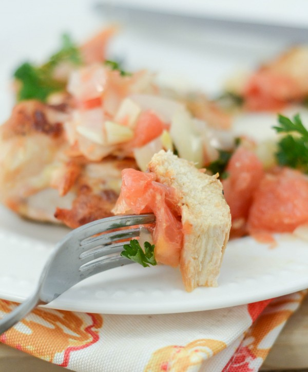Grapefruit Salsa Chicken #Sponsor