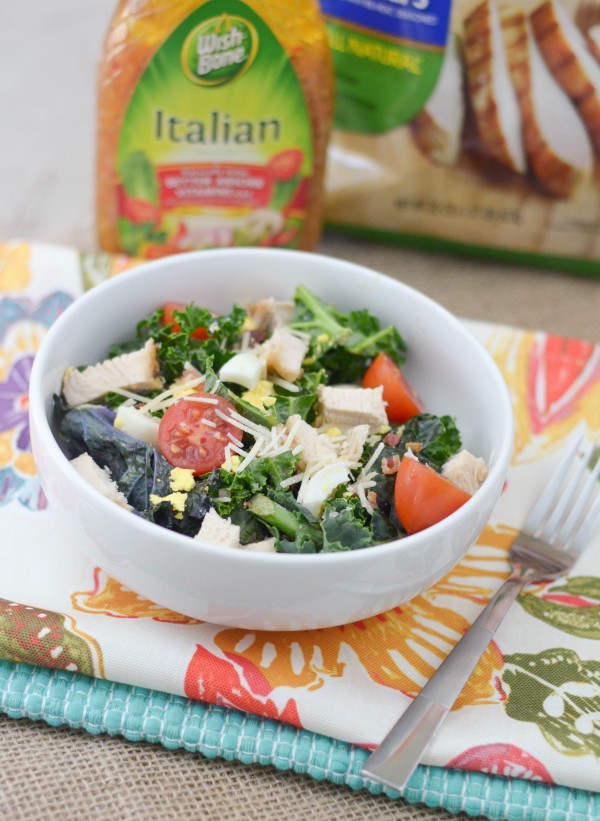 Grilled Chicken Kale Salad #ad