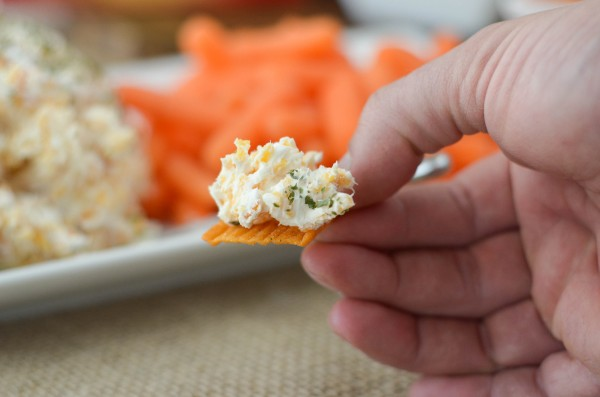 Hot & Spicy Cheese Ball #HoopswithCrunch #ad
