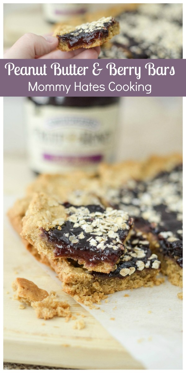 Peanut Butter & Berry Bars #ad