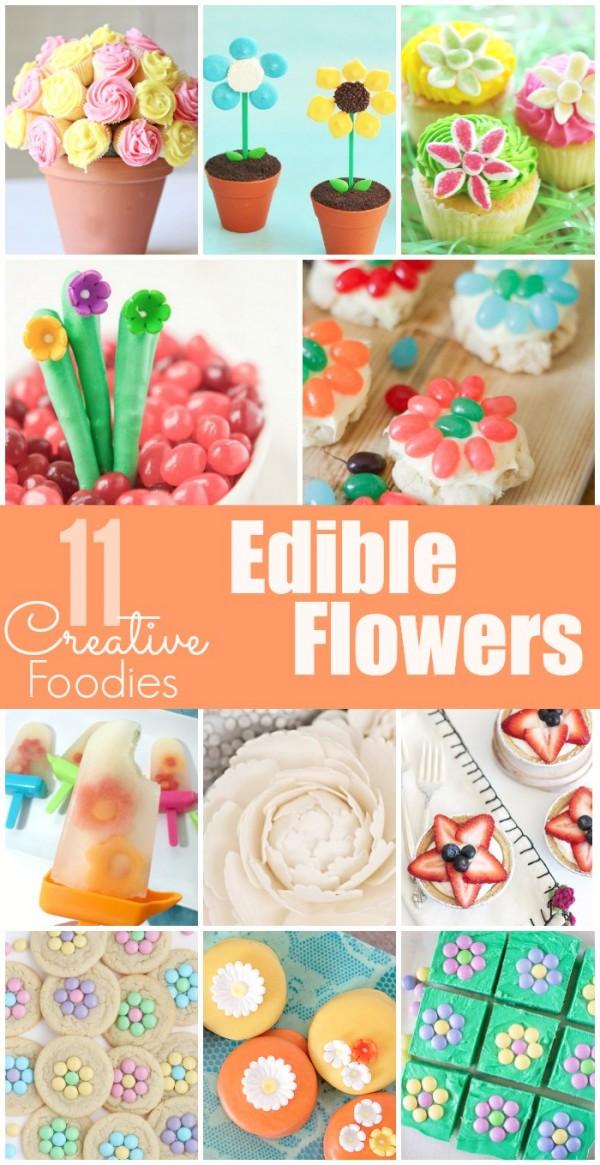 Jelly Bean Flower Cookies & Edible Flowers #CreativeFoodies