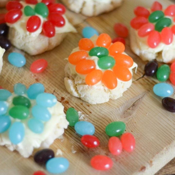 Jelly Bean Flower Cookies