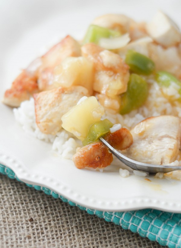 Sweet & Sour Chicken - I show you how easy it is to make sweet and sour chicken in a better for you way!