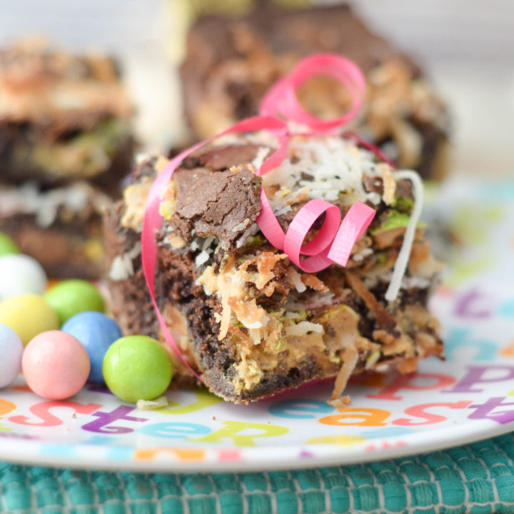 Toasted Coconut Peanut Butter Brownies