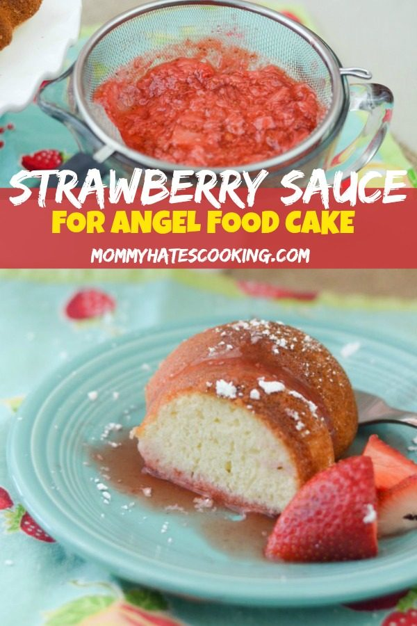Strawberry Sauce for Angel Food Cake