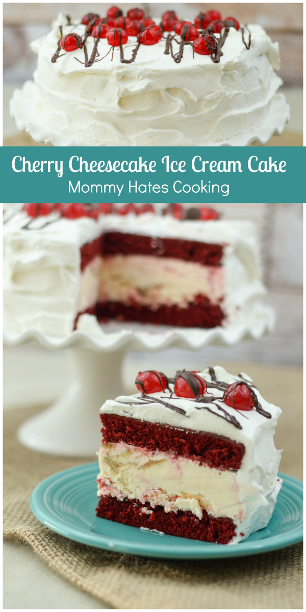 Cherry Cheesecake Ice Cream Cake Mommy Hates Cooking