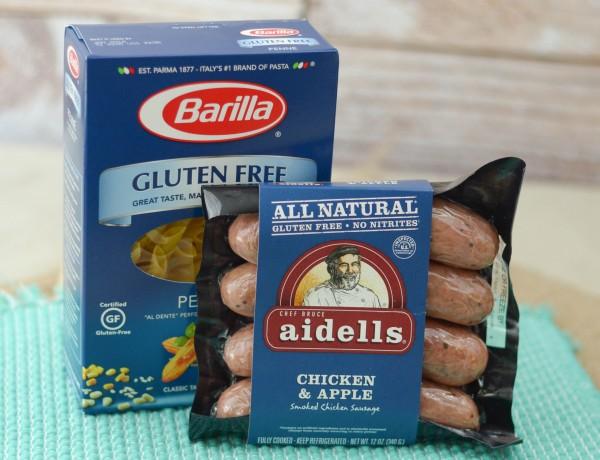 Chicken & Apple Sausage Pasta Bowls {EmbraceYourFoodie, AD}