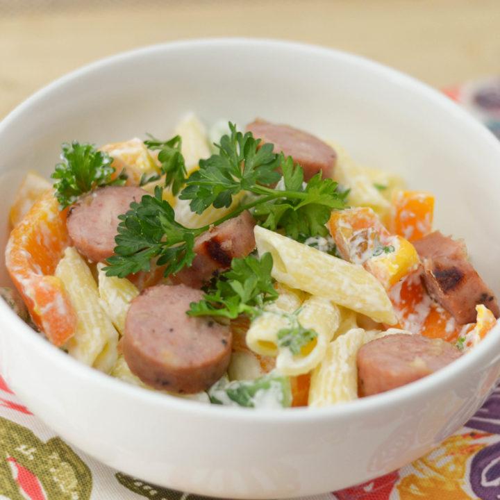 Chicken & Apple Sausage Pasta Bowls