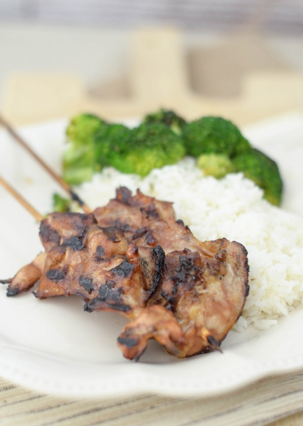 Gluten Free Chicken Teriyaki Skewers