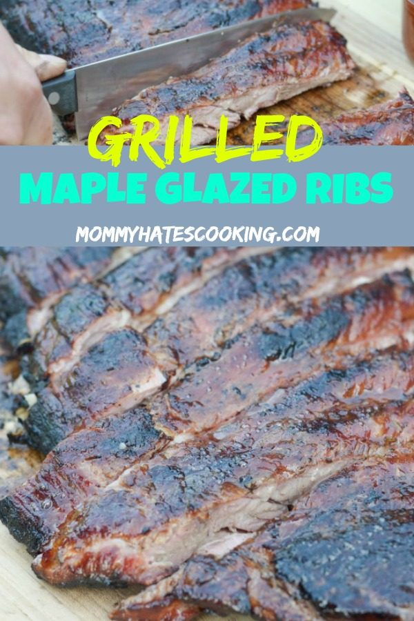 Grilled Maple Glazed Ribs
