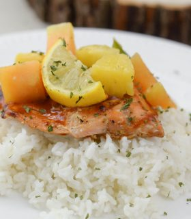 Maple BBQ Glazed Salmon