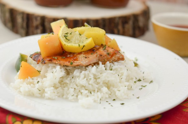 Maple BBQ Glazed Salmon #SauceMaster #ad