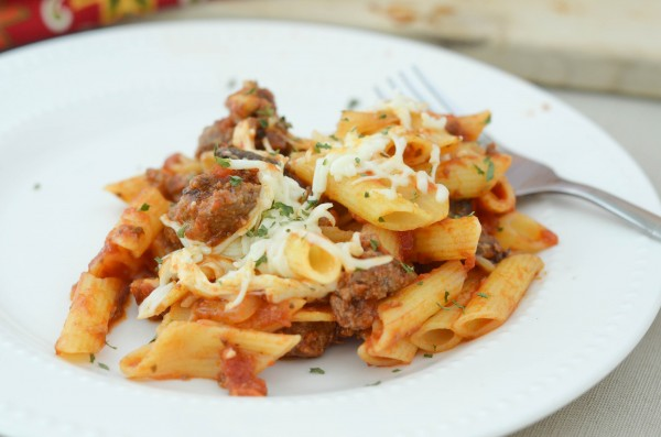Homestyle Cheesy Penne #SimmeredinTradition #ad