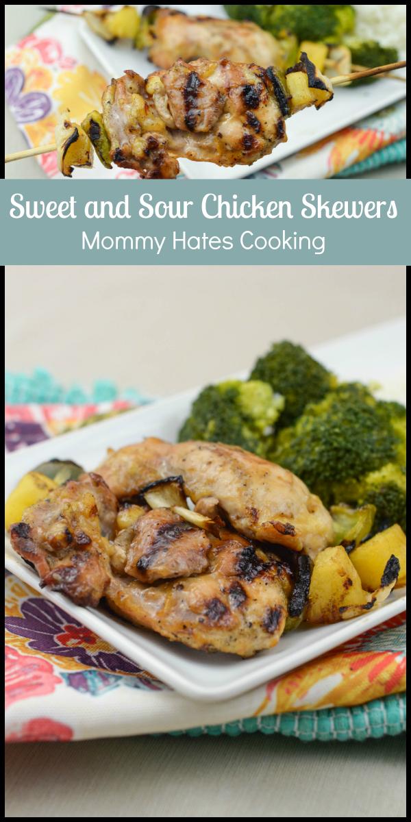 Sweet & Sour Chicken Skewers