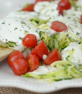 Cheesy Baked Zoodles