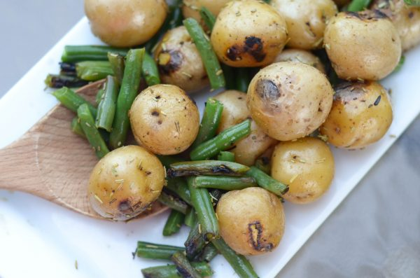 Grilled Small Potatoes & Green Beans