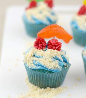 Ocean Friends Cupcakes & Ocean Themed Foods
