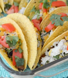 Baked Black Bean & Rice Tacos