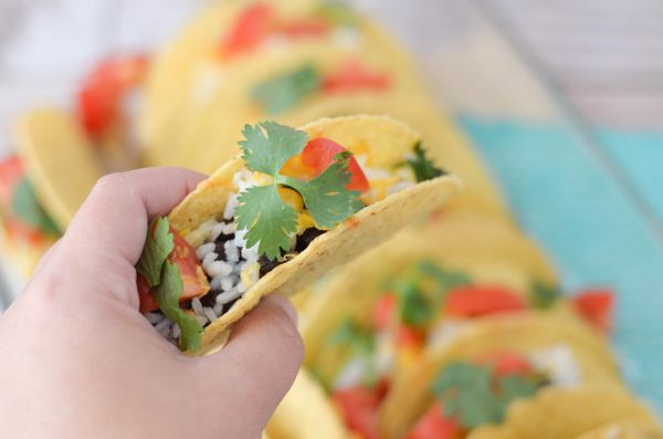 Baked Black Bean & Rice Tacos