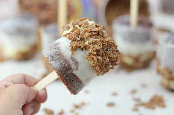Cocoa Pudding Pops #MomsBestCereal #ad