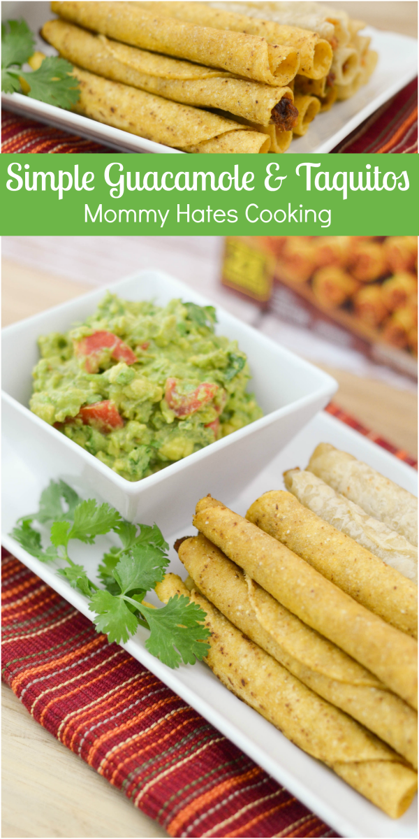 Simple Guacamole Recipe & Taquitos #MomWins #Ad