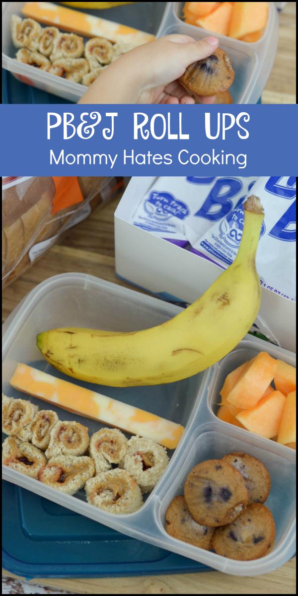 PB & J Roll Ups & Back to School Lunch Ideas