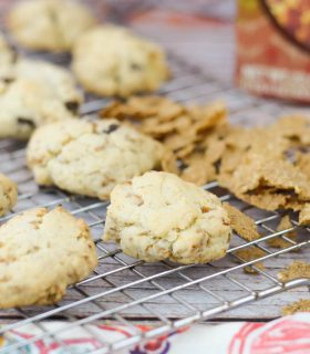 Raisin Bran Oatmeal Cookies