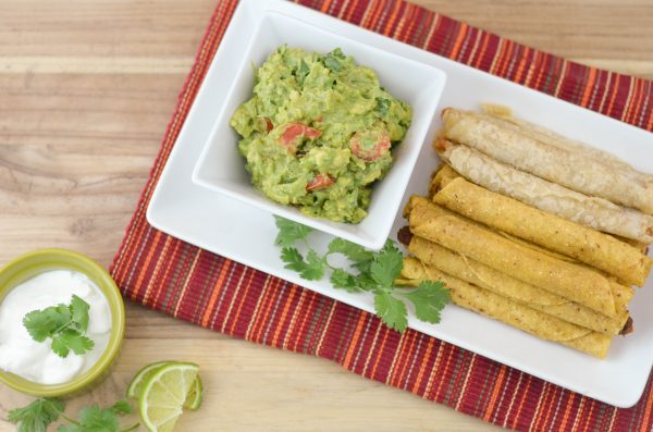 Simple Guacamole Recipe & Taquitos