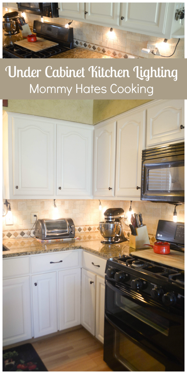 String Lights Above Kitchen Cabinets : Create Under Cabinet Lighting with Enbrighten Life - Mommy Hates Cooking