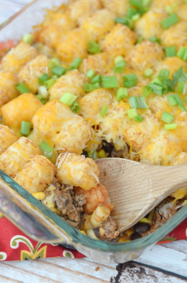 Tater Tot Taco Casserole #McCormickDinners #ad