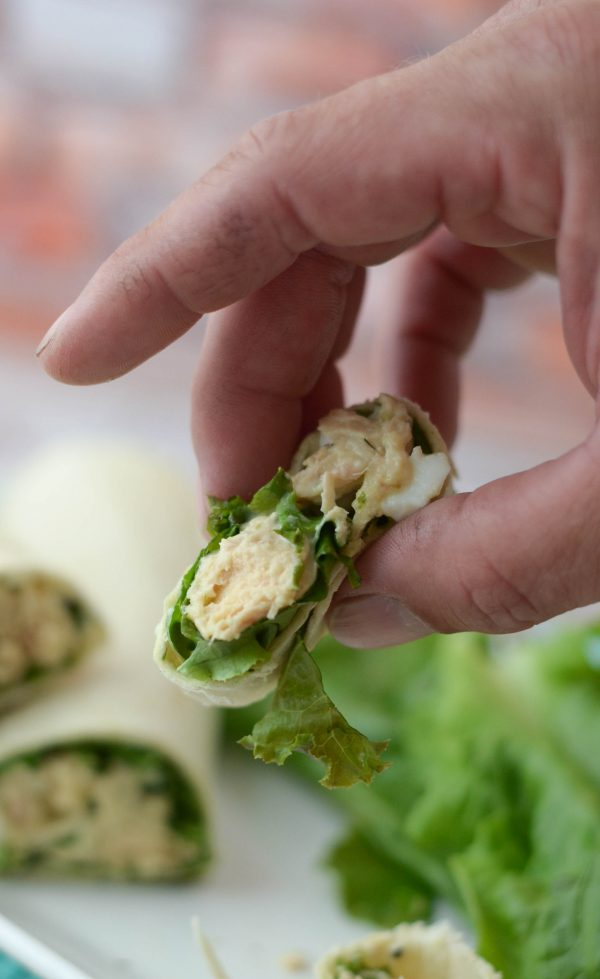Tuna Salad Pinwheels #OnlyAlbacore #CG