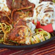 Baked Zoodles & Meatballs