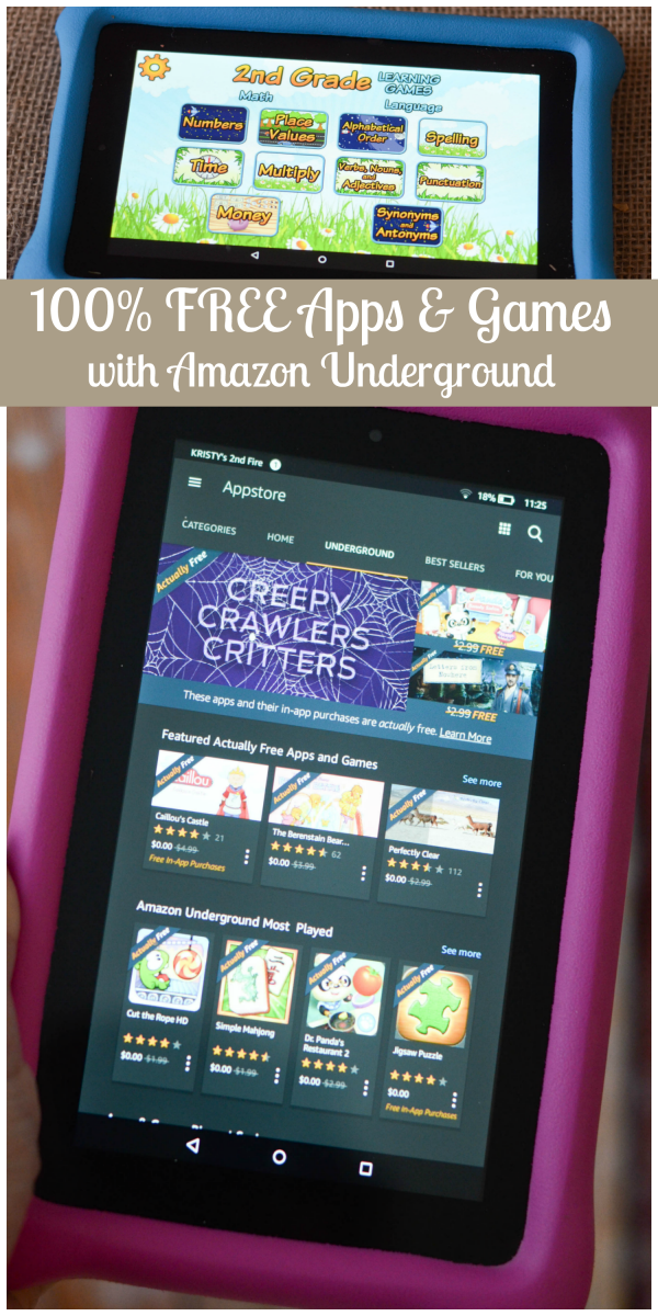 100% Free Apps & Games with Amazon Underground #AmznUnderground #ad