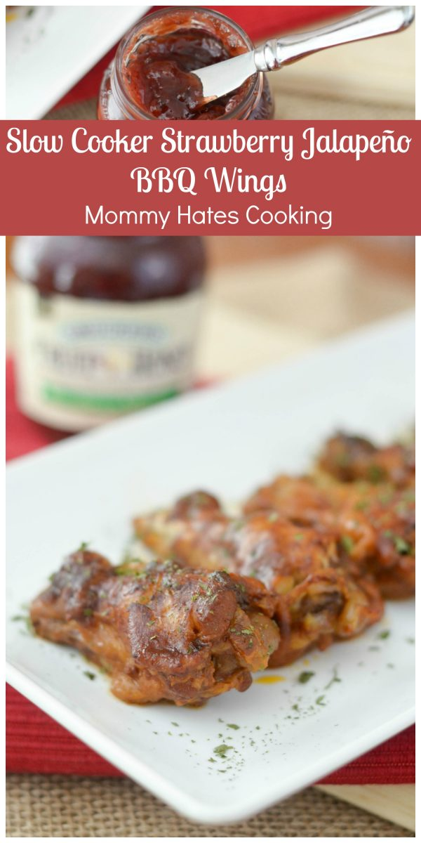 Slow Cooker Strawberry Jalapeno BBQ Wings