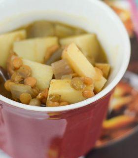 Slow Cooker Lentil Pumpkin Soup