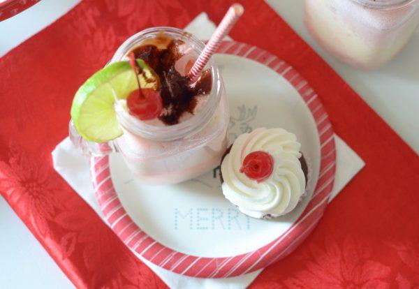 Chocolate Cherry Floats
