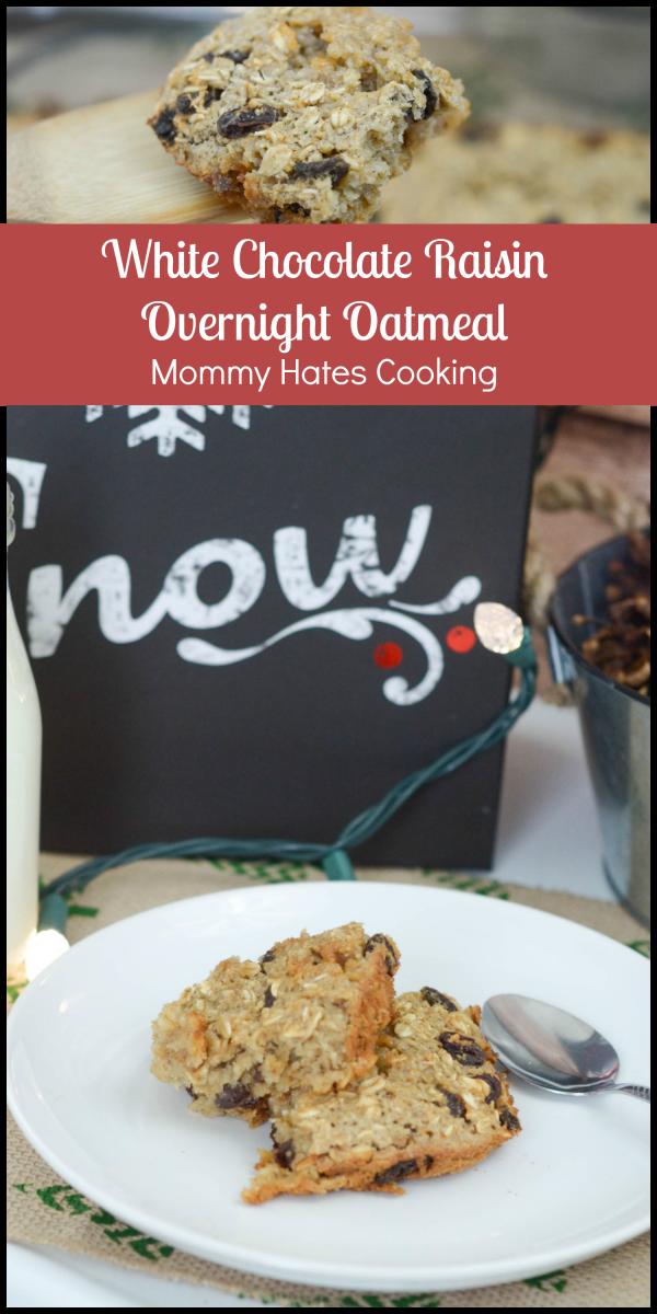 White Chocolate Raisin Overnight Oatmeal #HolidaysMadeEasy #SaveALotInsiders #ad