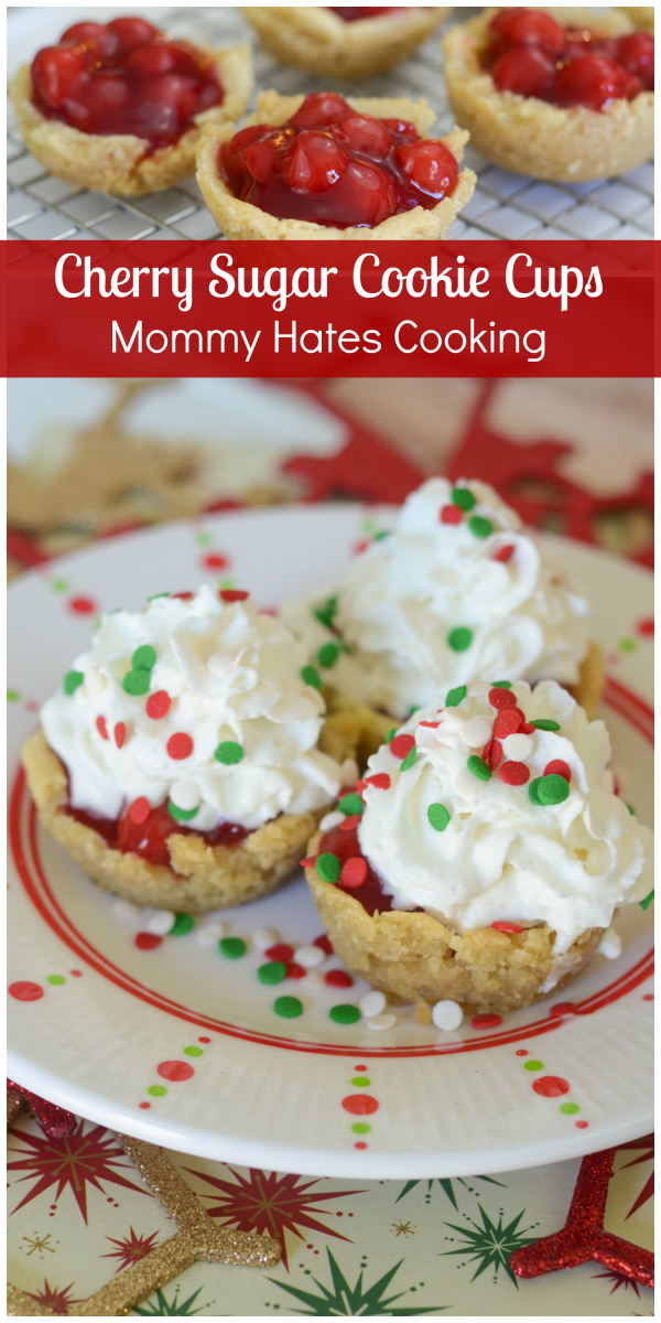 Cherry Sugar Cookie Cups #ItsBakingSeason #ad